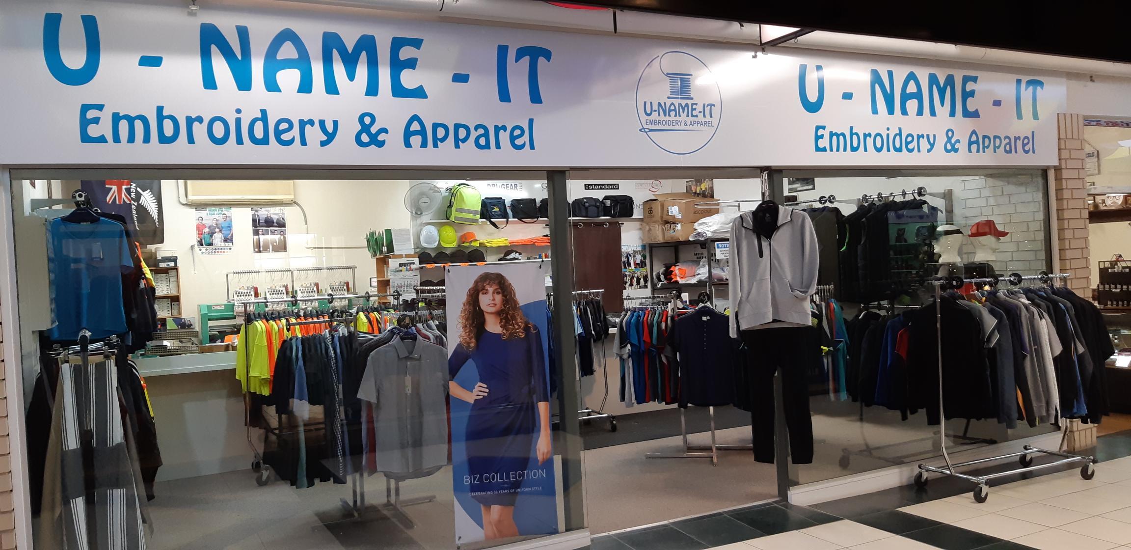1 - U Name It Clothing & Embroidery Tauranga